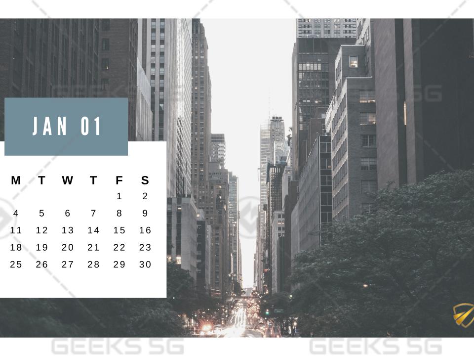 2021 Calendar Design