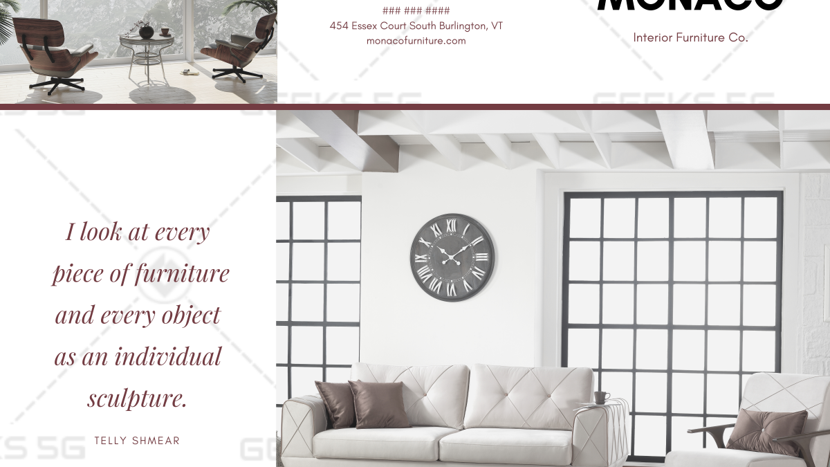 Furniture and Décor Brochure