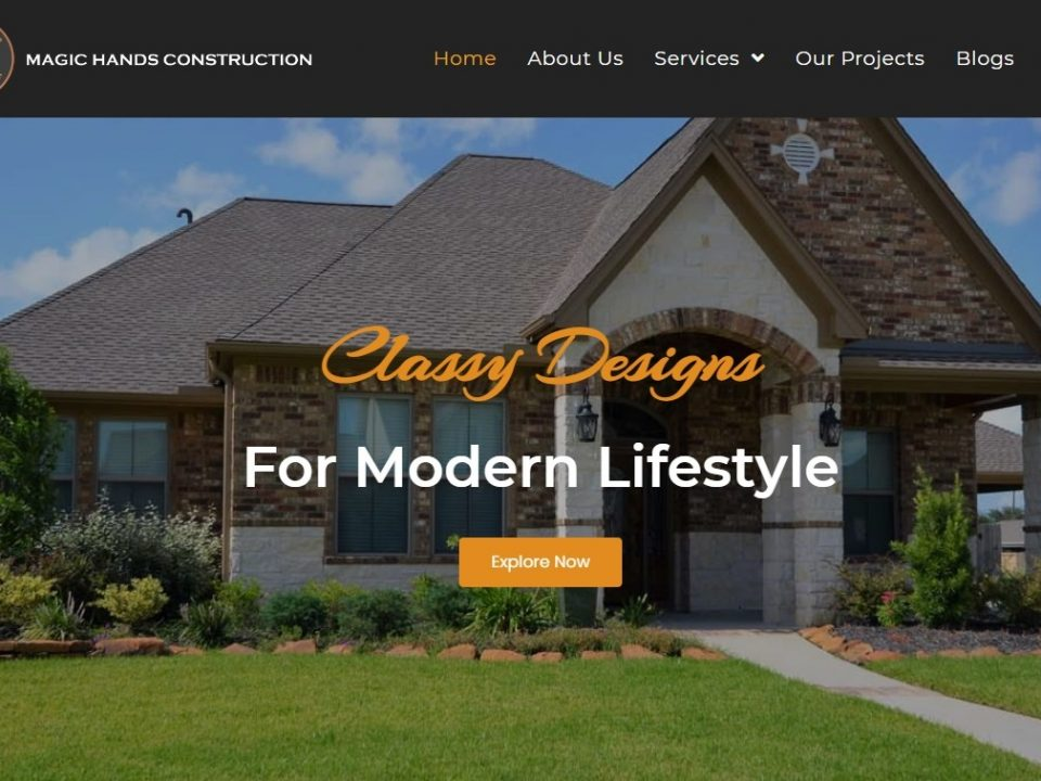 Magichandsconstructionllc - Website Banner