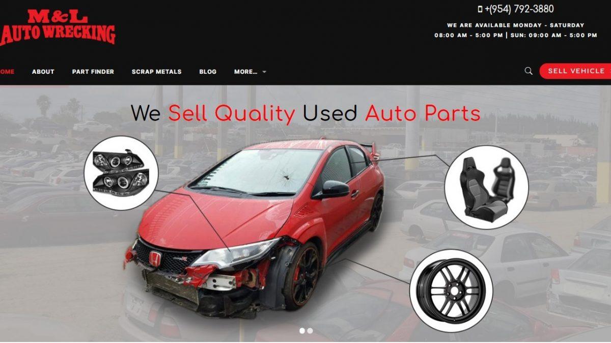 Mlautopartsfl - Website Banner