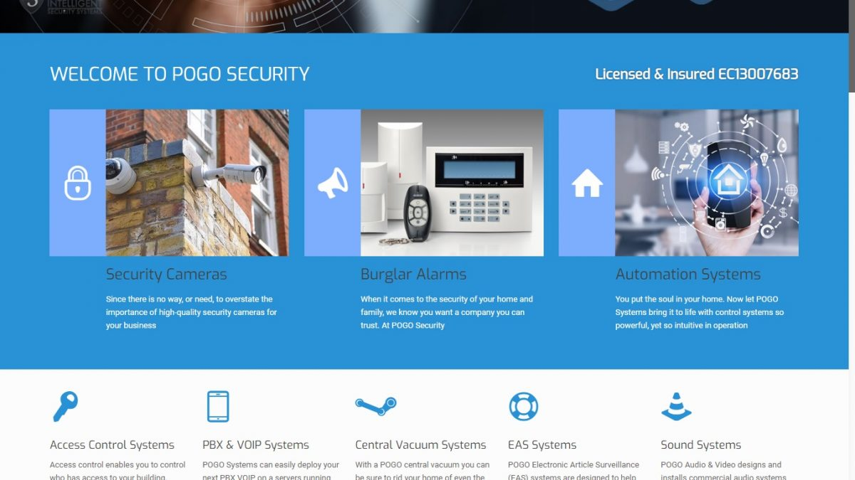 Pogosecurity - Website Design & Development