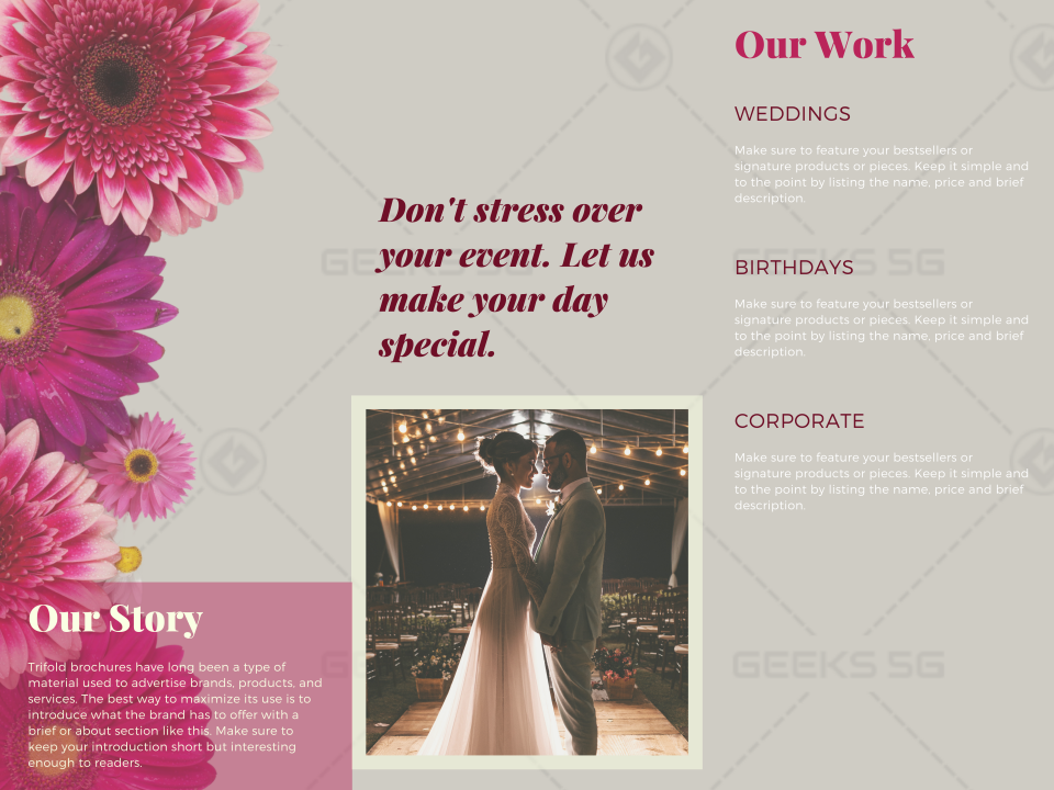 Wedding Planning Brochure